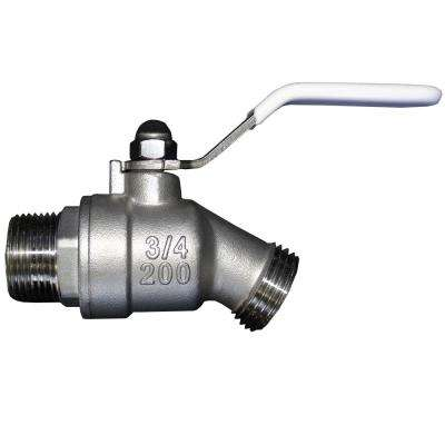 3/4 in. Stainless Steel Quarter Turn Hose Bibb Shut-Off Valve