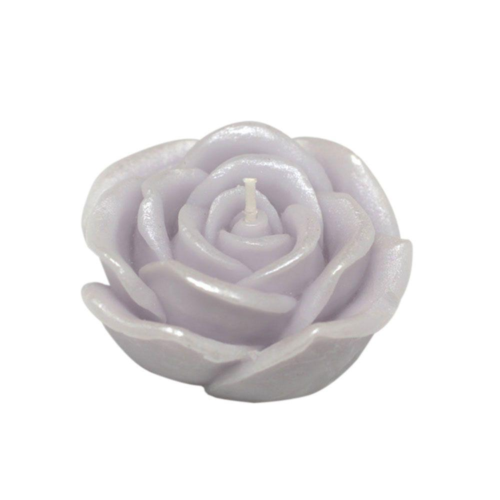 Zest Candle 3 in. Purple Rose Floating Candles (Box of 12)