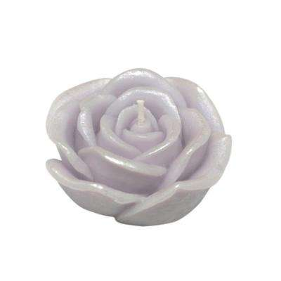 3 in. Purple Rose Floating Candles (Box of 12)