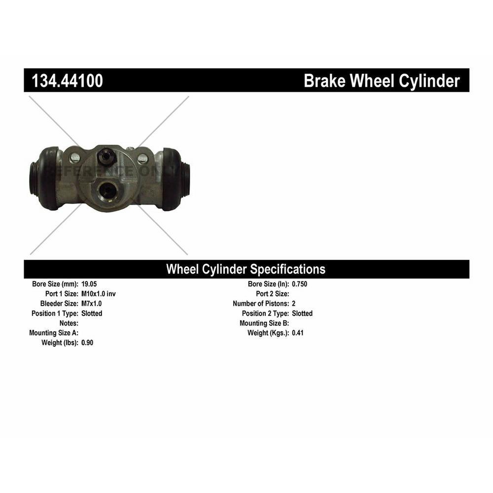 Drum Brake Wheel Cylinder-Drum Rear Centric 134.44100 Automotive ...