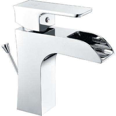 Forza Series Single Hole Single-Handle Low-Arc Bathroom Faucet in Polished Chrome