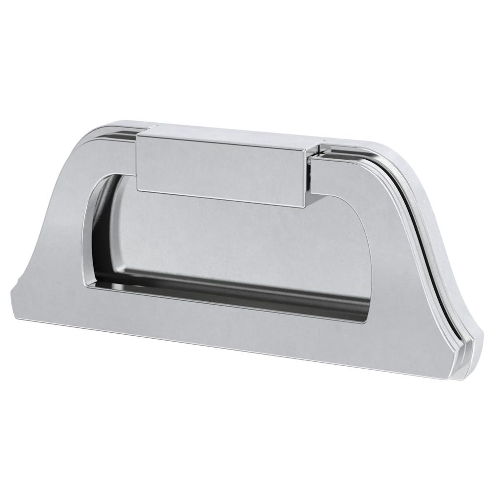 76 Mm Polished Chrome Campaign Cabinet Drawer Pull