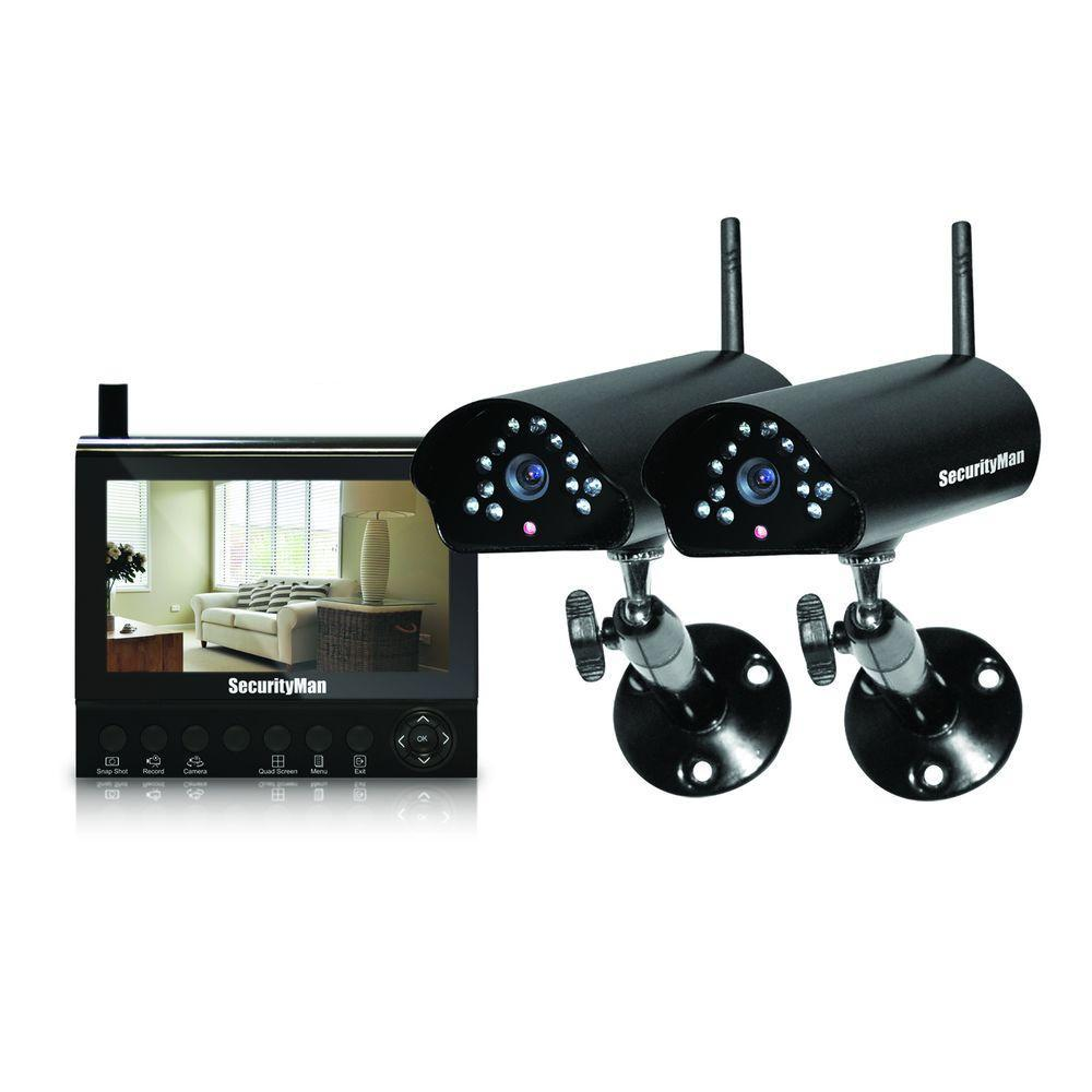 Wireless cameras security camera systems home security video 4 channel 2 wireless security system solutioingenieria Choice Image
