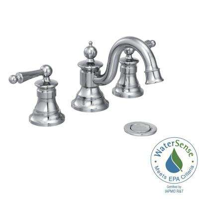 Waterhill 8 in. Widespread 2-Handle High-Arc Bathroom Faucet Trim Kit in Chrome (Valve Not Included)