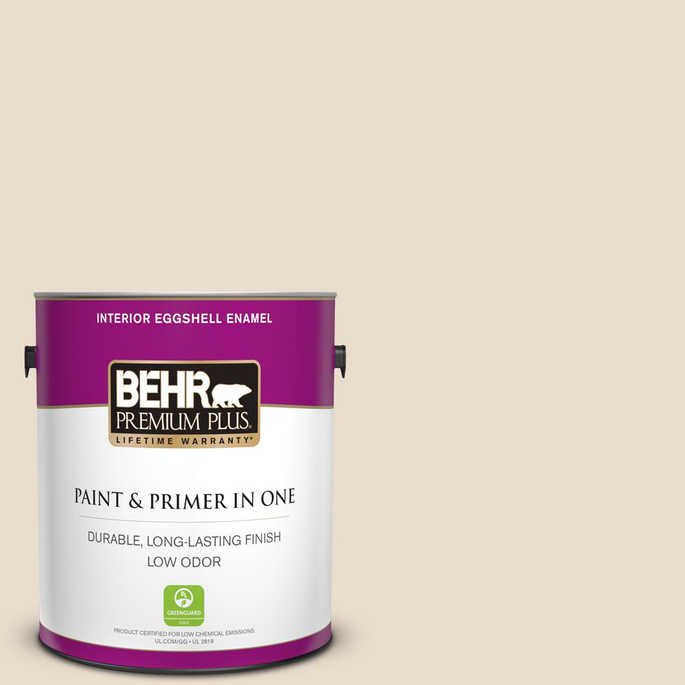 Behr Premium Plus 1 Gal 23 Antique White Eggshell Enamel Low Odor Interior Paint