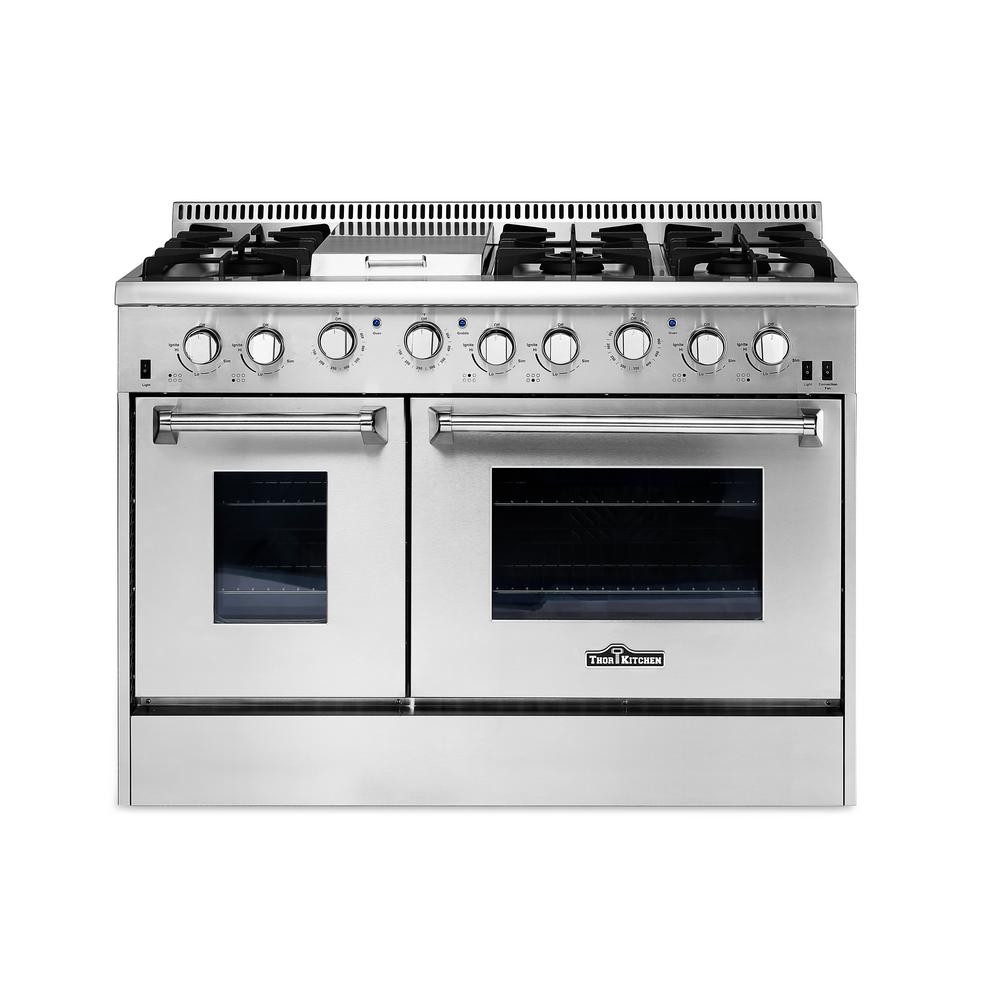 Thor Kitchen 48 in. 6.7 cu. ft. Professional Gas Range in ...