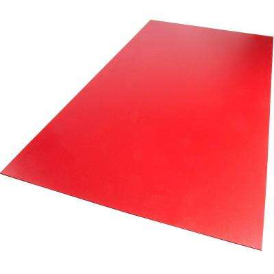 24 in. x 24 in. x 0.118 in. Foam PVC Red Sheet