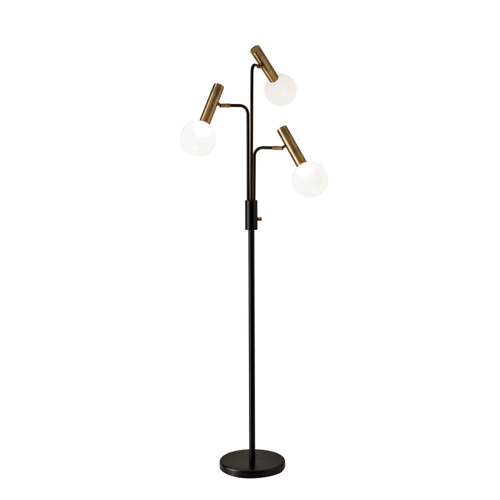 Adesso Sinclair 70 in. Integrated LED Black Floor Lamp