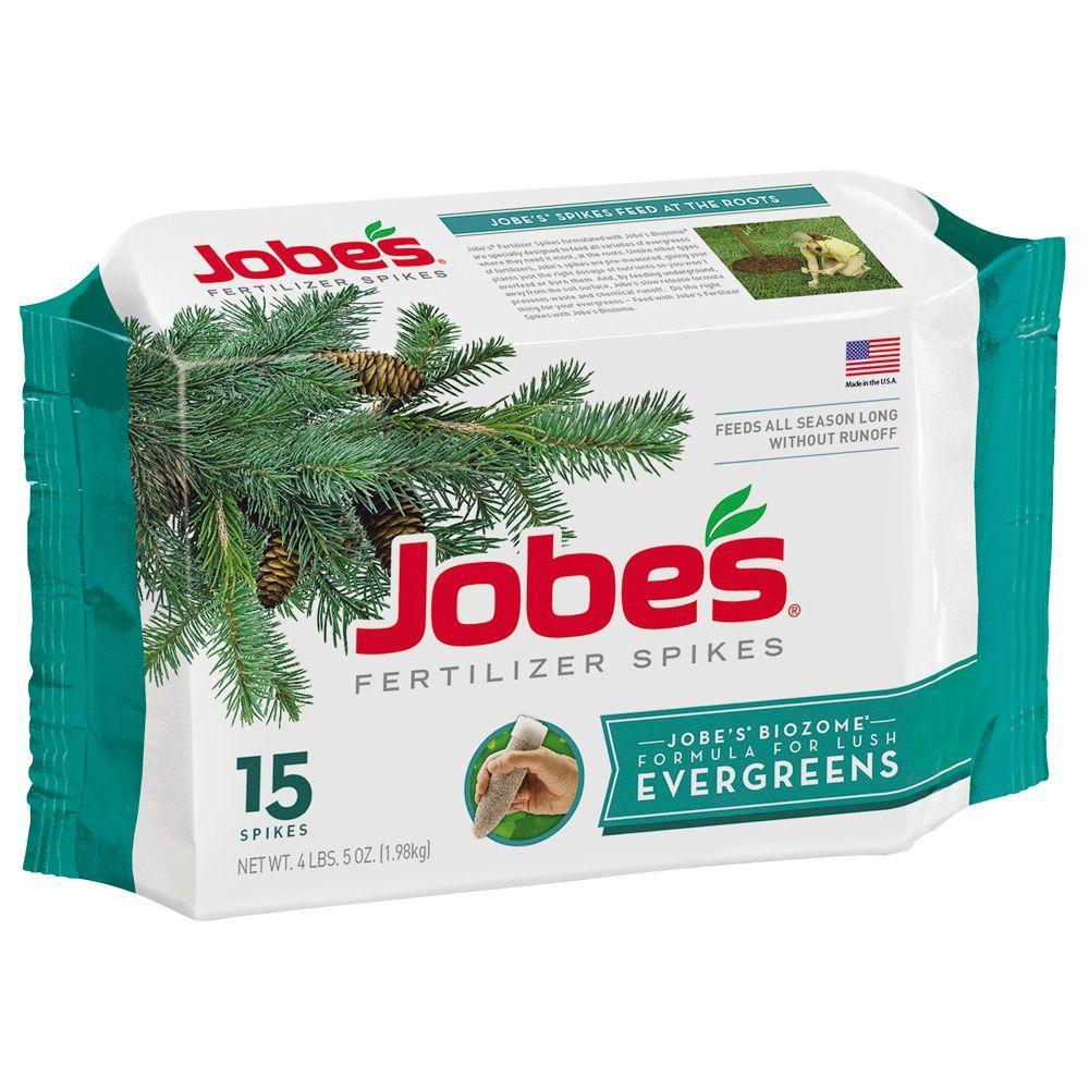 Jobes Evergreen Tree Fertilizer Spikes 15 Pack 01611 The Home Depot