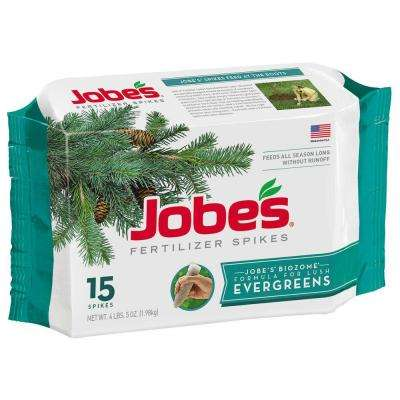 4 lb. Evergreen Tree Fertilizer Spikes with Biozome, (15-Pack)
