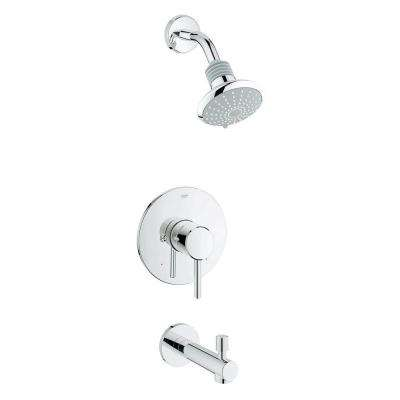 Concetto Single-Handle Tub and Shower Faucet in StarLight Chrome (Valve Not Included)