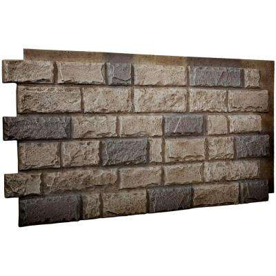 1-1/2 in. x 48 in. x 25 in. Platinum Urethane Cut Coarse Random Rock Wall Panel