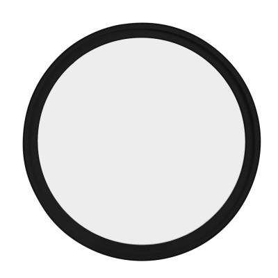 48 in. x 48 in. Round Black 6-9/16 in. Jamb Geometric Aluminum Clad Wood Window
