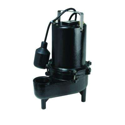 1/2 HP Heavy Duty Cast Iron Sewage Pump