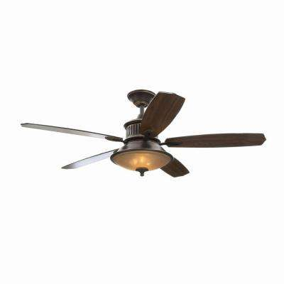 Isolabella II 52 in. Indoor Tarnished Bronze Ceiling Fan with Light Kit and Remote Control