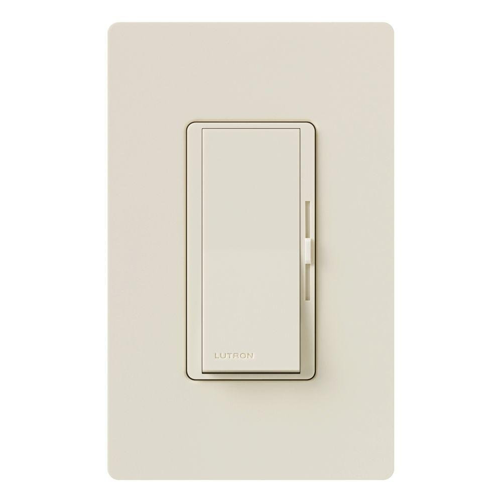Lutron Diva 250w Cl Dimmer Switch For Dimmable Led Halogen And Ceiling Fan With 1 3 Way Incandescent Bulbs Single Pole Or White Dvcl 253p Wh The Home Depot