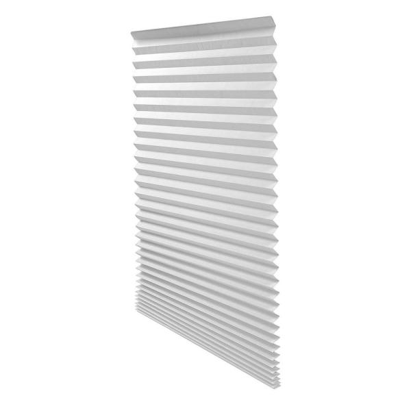 Cut-to-Size White Cordless Light-Filtering Easy to Install Temporary Shades 36 in. W x 72