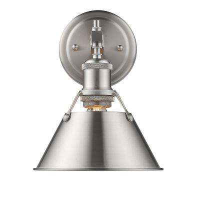 Orwell PW 1-Light Pewter Bath Light with Pewter Shade