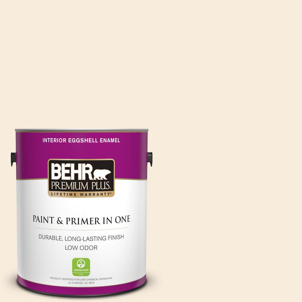 Behr Premium Plus 1 Gal 70 Linen White Eggshell Enamel Low Odor Interior Paint And Primer In One
