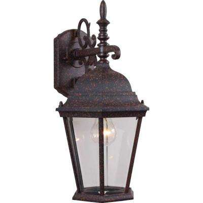 1-Light Rust Outdoor Wall Sconce