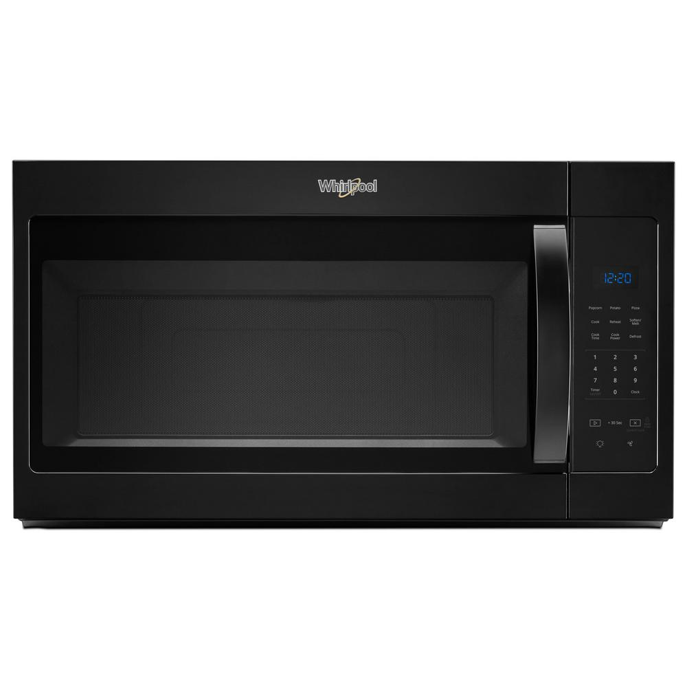 Whirlpool 1 7 Cu Ft Over The Range Microwave In Black