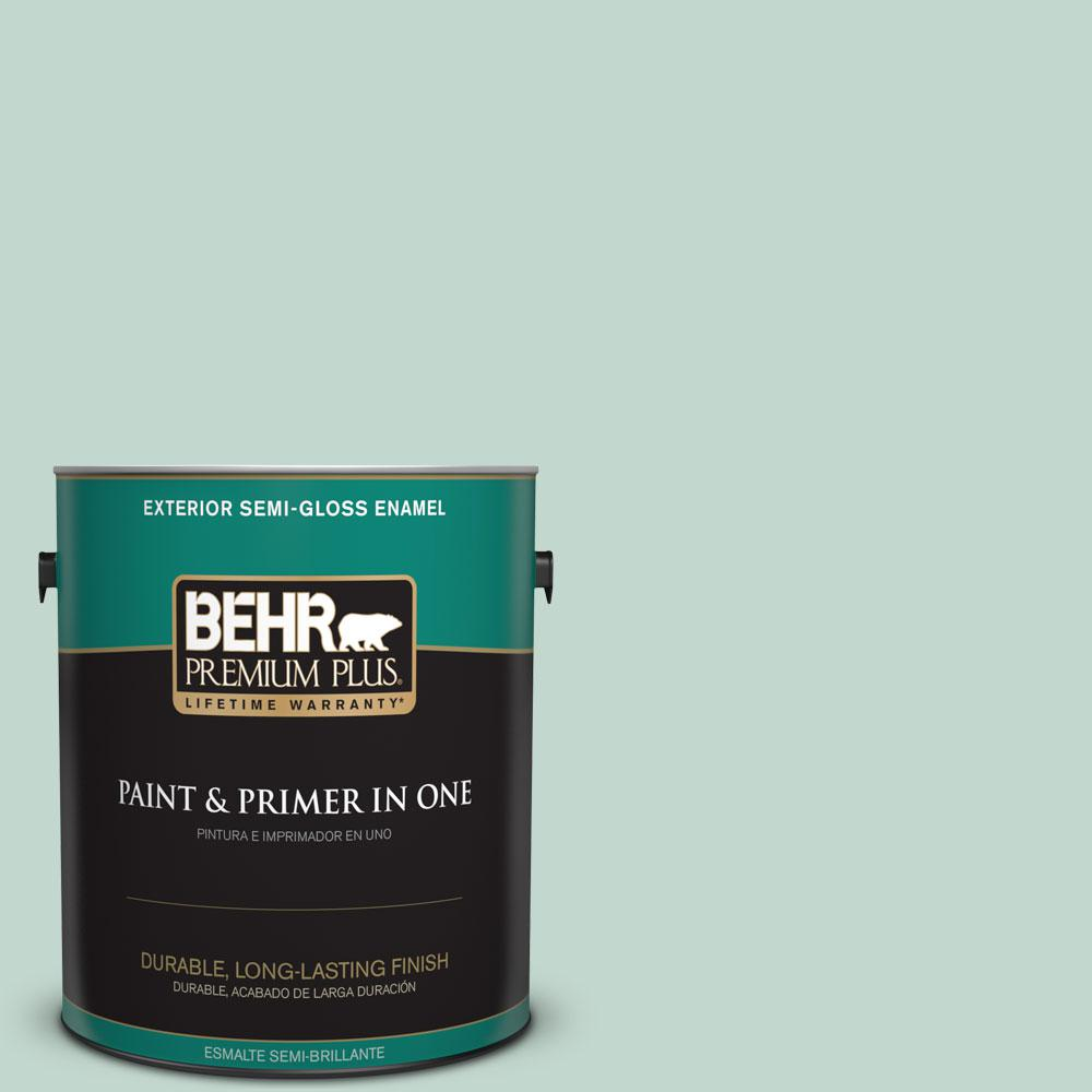 1-gal. #470E-3 Aqua Smoke Semi-Gloss Enamel Exterior Paint