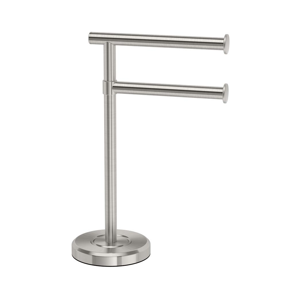 Gatco Laude Ii Minimalist Countertop 12 In 2 Arm Pivot Hand Towel Bar Holder
