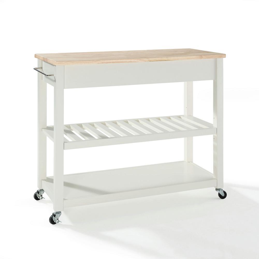 +2. Crosley White Kitchen Cart ...