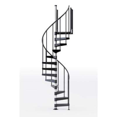 Reroute Prime 42 in. (3 ft. 6 in.) Wide 9 Treads with One 42 in. H Platform Rail Spiral Stair Kit