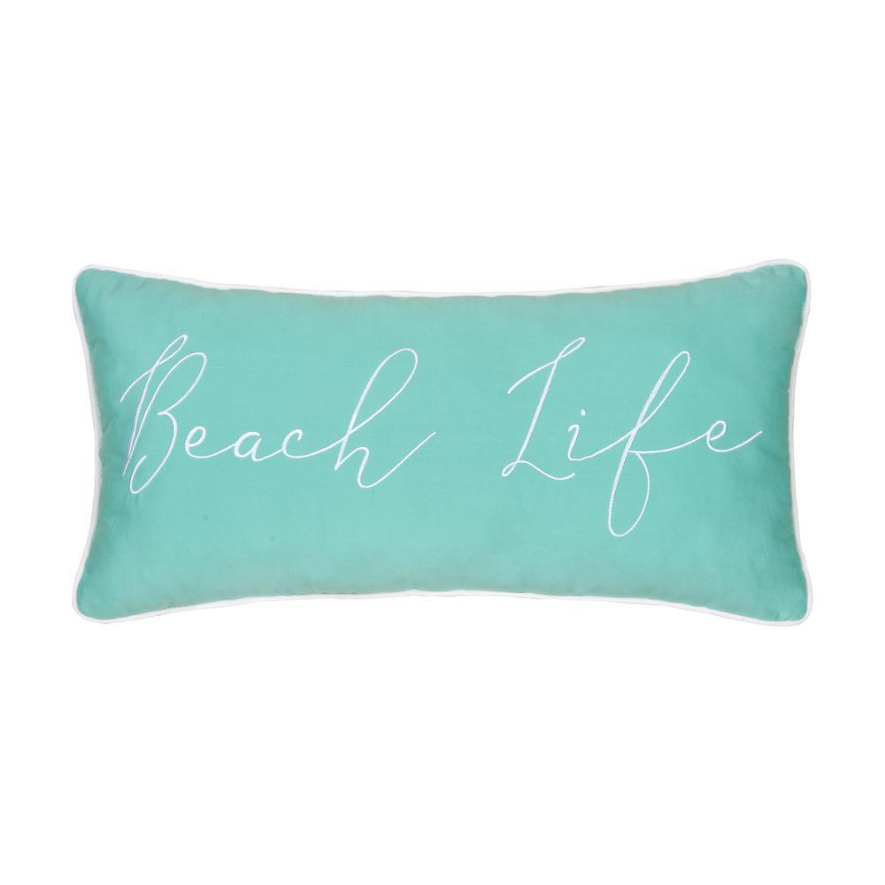 Seafoam Beach Life 12 in. x 24 in. Standard Throw Pillow