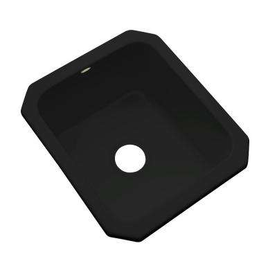 Crisfield Undermount Acrylic 17 in. Single Bowl Entertainment Sink in Black