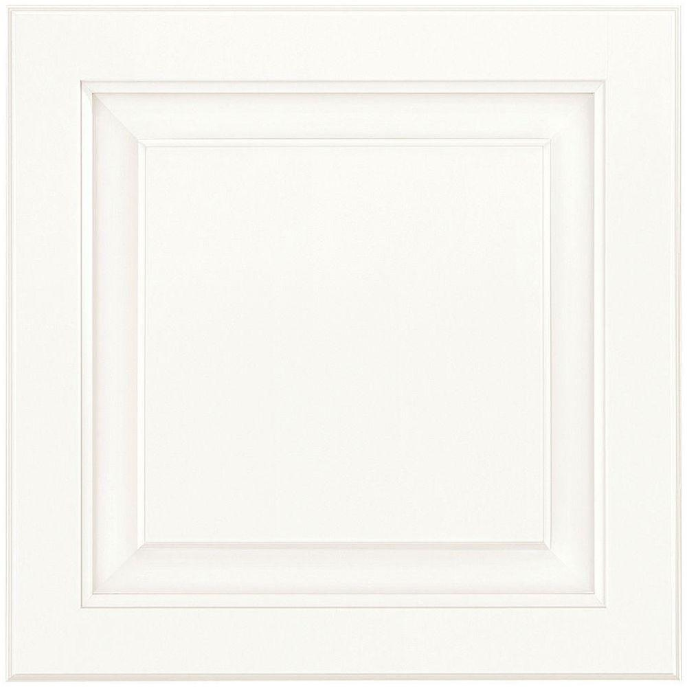 American Woodmark 14-9/16x14-1/2 in. Cabinet Door Sample in Charlottesville Painted Linen
