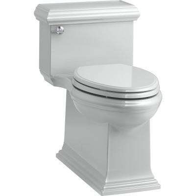 Memoirs Classic 1-Piece 1.28 GPF Single Flush Elongated Toilet in Ice Grey, Seat Included
