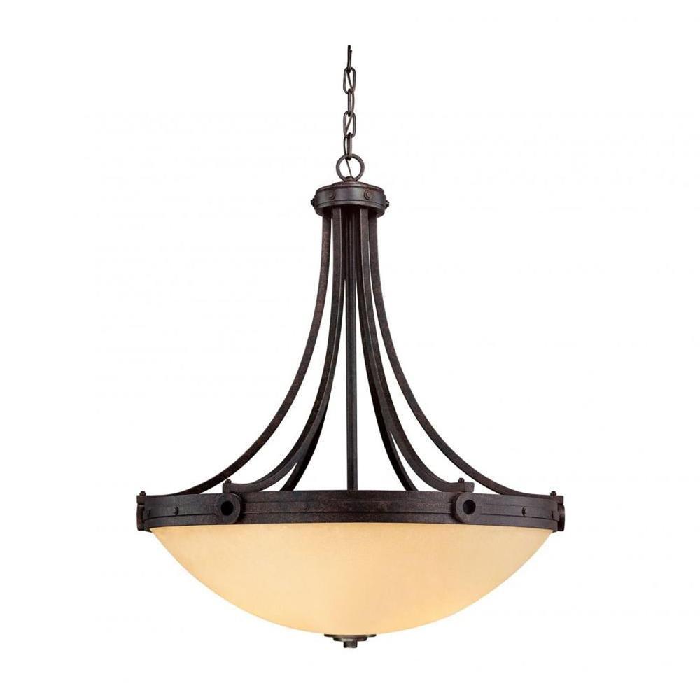 Hughes 4-Light Oiled Copper Pendant