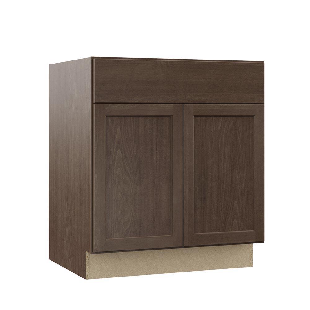 Shaker Assembled 30 x 34.5 x 21 in. Bathroom Vanity Base Cabinet in Brindle