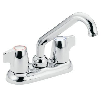 Chateau 4 in. Centerset 2-Handle Utility Faucet in Chrome