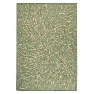 Persimmon Green/Natural 4 ft. x 5 ft. Area Rug