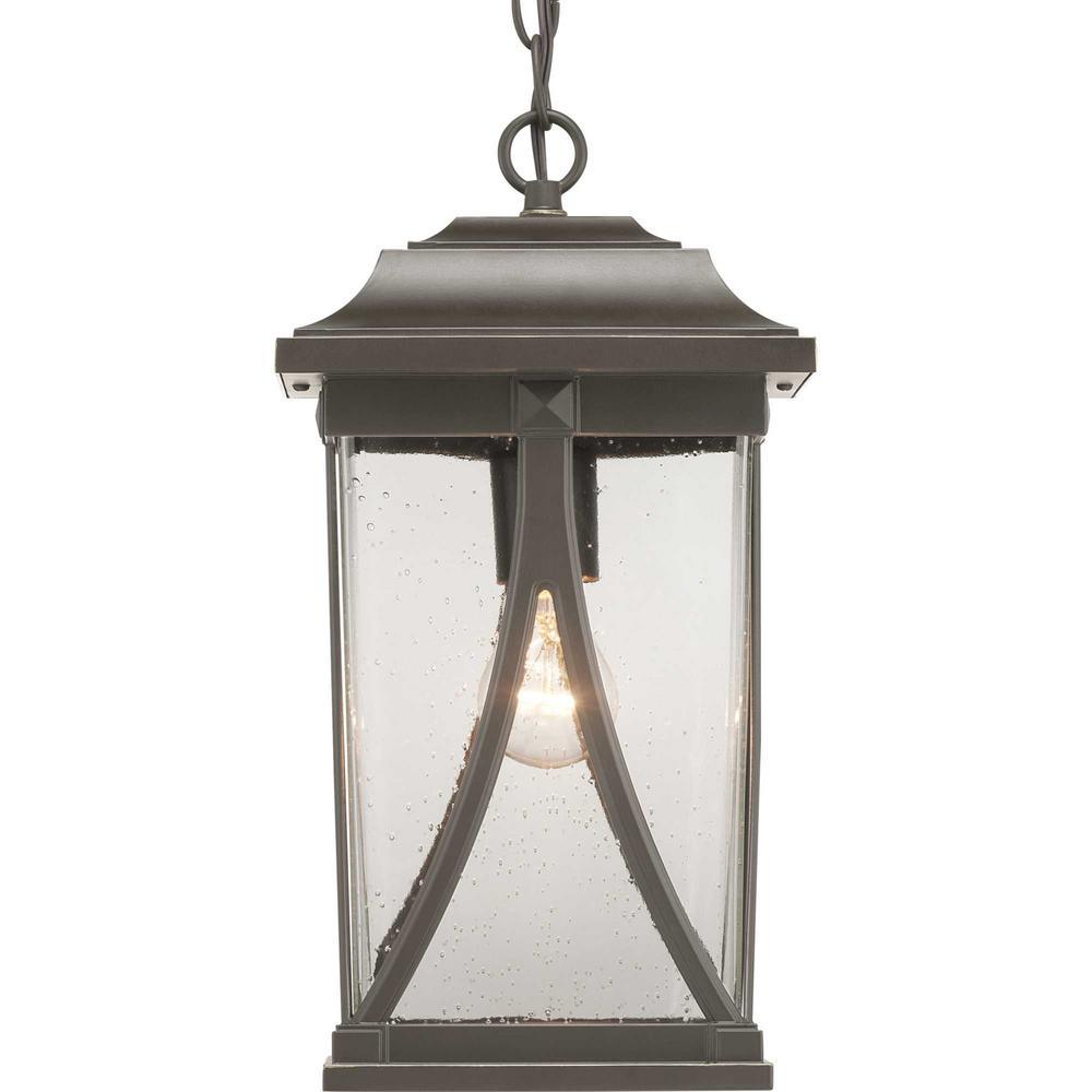 Abbott Collection Antique Bronze 1-Light Hanging Lantern