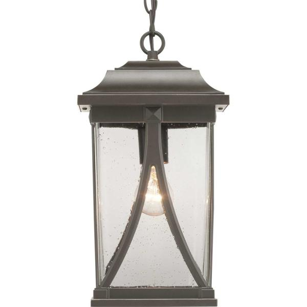 Abbott Collection Antique Bronze 1-Light Hanging Lantern