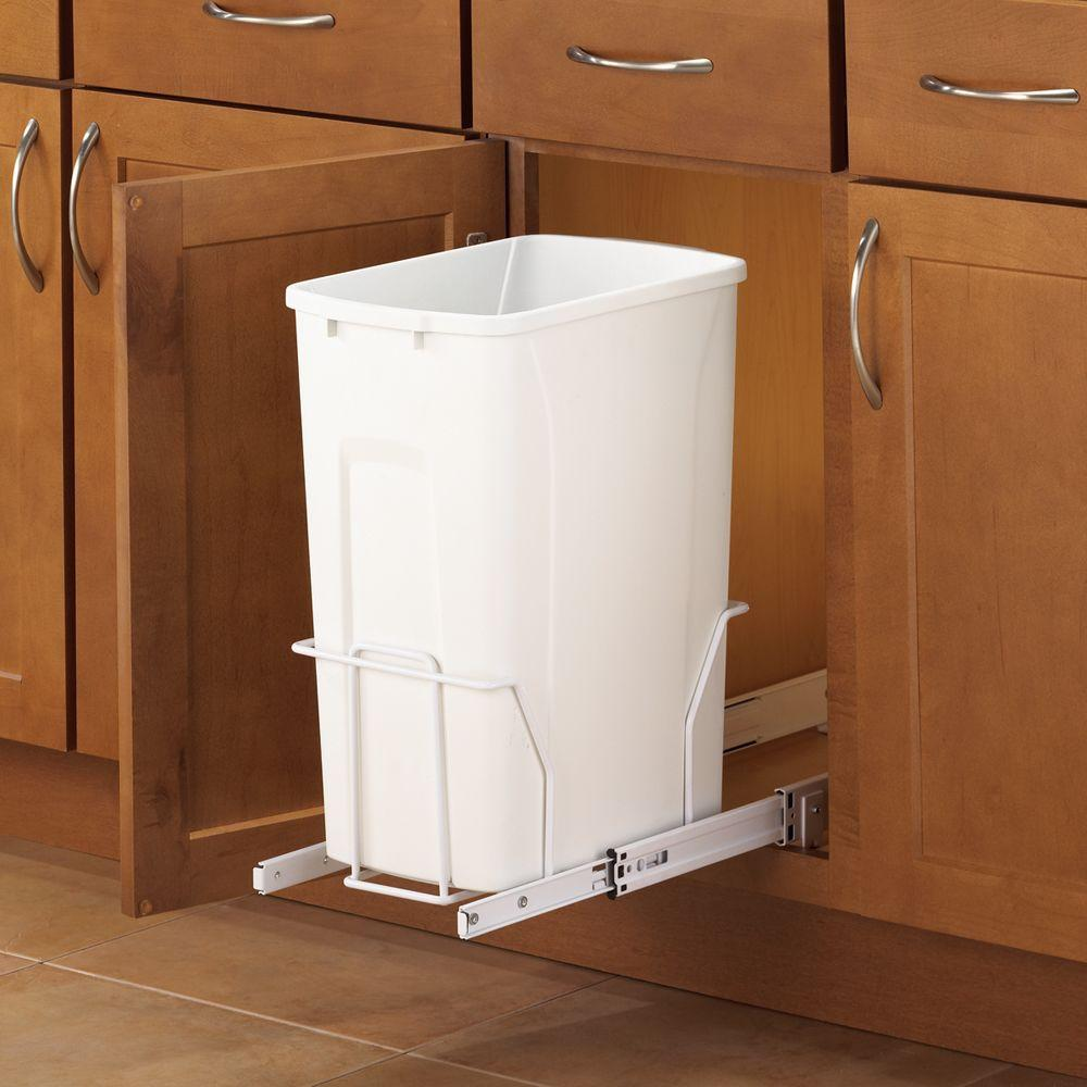 Kitchen Garbage Can Cabinet: Real Solutions For Real Life 19 In. H X 9 In. W X 20 In. D