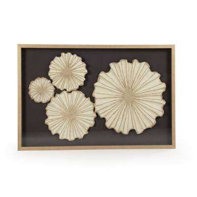 """Abstract Floral Paper Wall Art"" by Zentique"