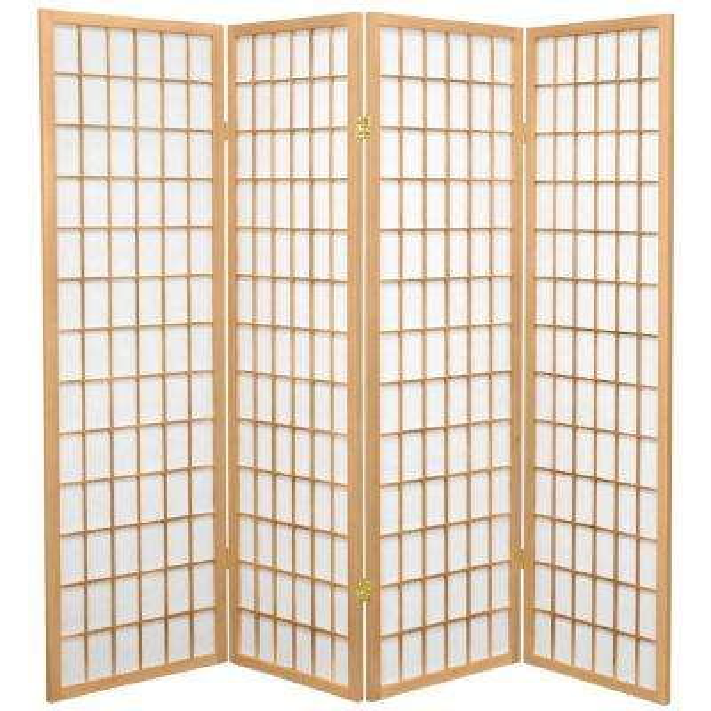 5 ft. Natural 4-Panel Room Divider