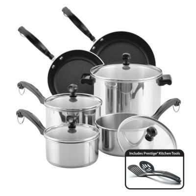 Classic Series 12-Piece Stainless Steel Cookware Set