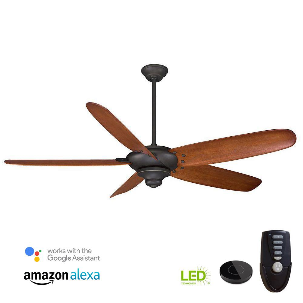 Altura 68 in. Oil Rubbed Bronze Ceiling Fan Works with Google
