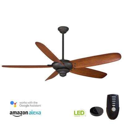 Altura 68 in. Oil Rubbed Bronze Ceiling Fan Works with Google Assistant and Alexa