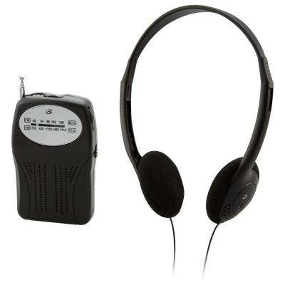 Portable AM/FM Radio with Headphones