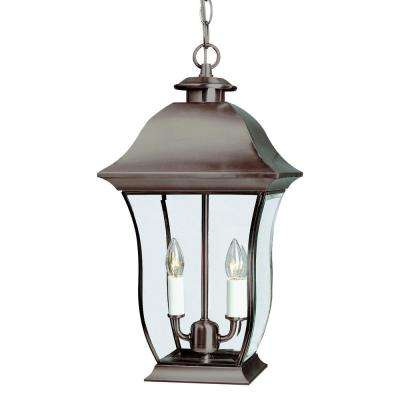 Downing Weathered Bronze 2-Light Outdoor Hanging Lantern