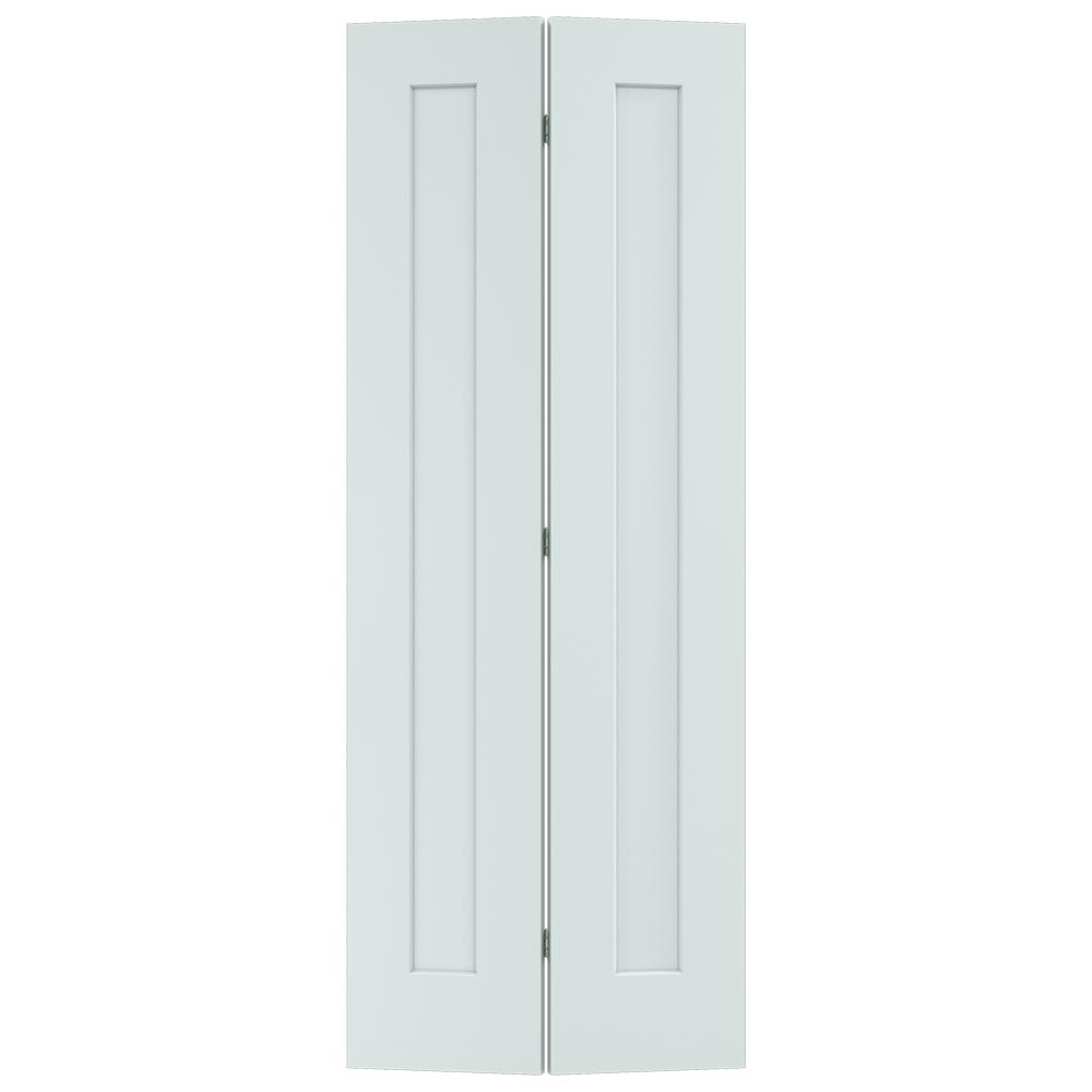 32 in. x 80 in. Madison Light Gray Painted Smooth Solid