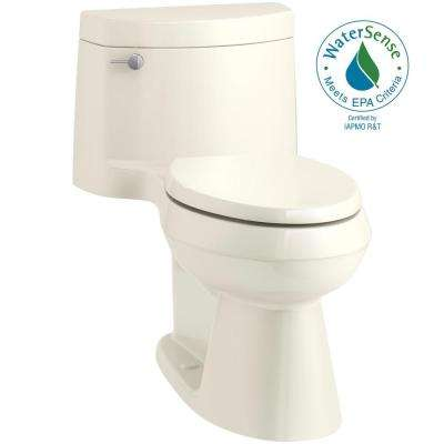 Cimarron 1-piece 1.28 GPF Single Flush Elongated Toilet in Biscuit