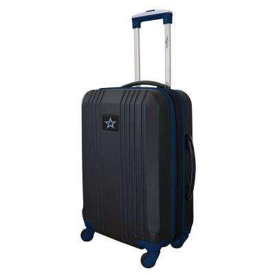 NFL Dallas Cowboys Navy 21 in. Hardcase 2-Tone Luggage Carry-On Spinner Suitcase